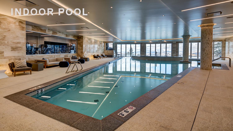 Luxury Park City rentals with large indoor pool overlooking Deer Valley resort