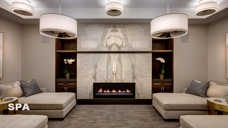 Luxurious Deer Valley spa lounge at Stein Eriksen Residences Park City, Utah