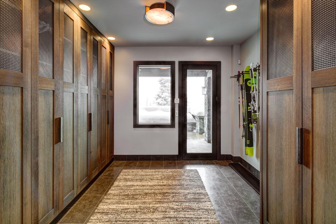 Park City luxury rentals mud room and ski locker room